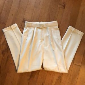 Pants - Vintage White 100% Wool Trousers